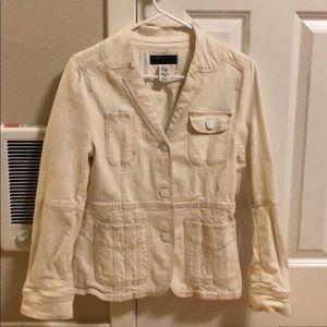 MARC JACOBS cream denim jacket